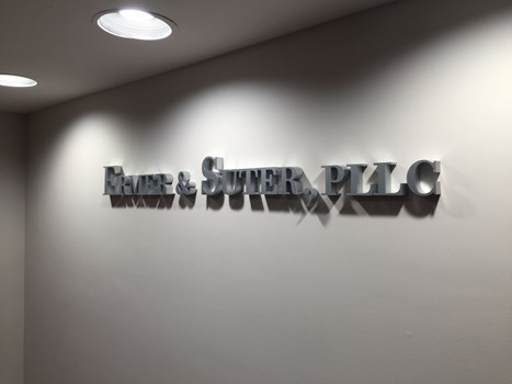 3D Letters for Indoor Reception Area